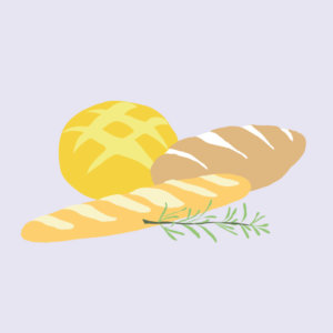 Sourdough bread illustration