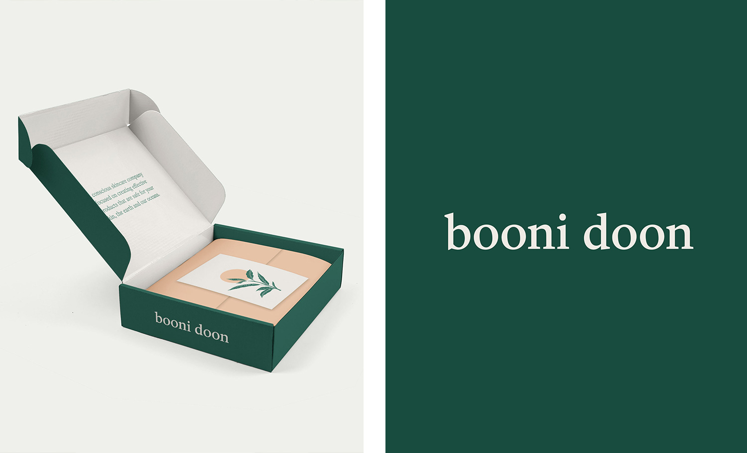 booni doon e-commerce packaging and logo